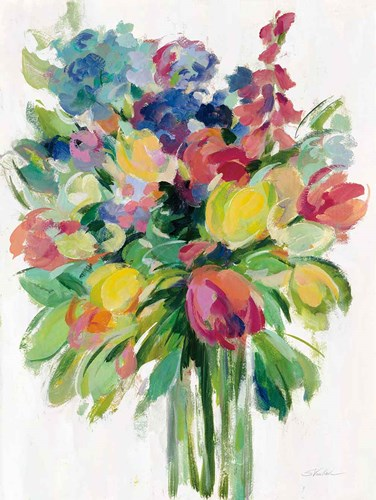 Earthy Colors Bouquet II White art print by Silvia Vassileva for $56.25 CAD