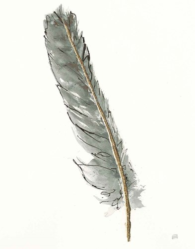 Gold Feathers II Green art print by Chris Paschke for $58.75 CAD