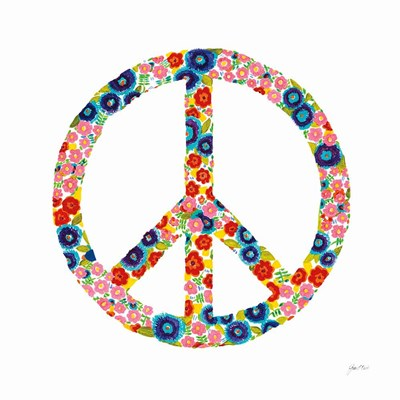 Peace and Love I art print by Joan elan Davis for $51.25 CAD