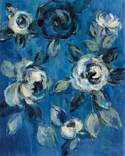 Loose Flowers on Blue I art print by Silvia Vassileva for $58.75 CAD