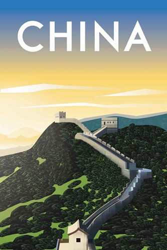 China art print by Omar Escalante for $65.00 CAD