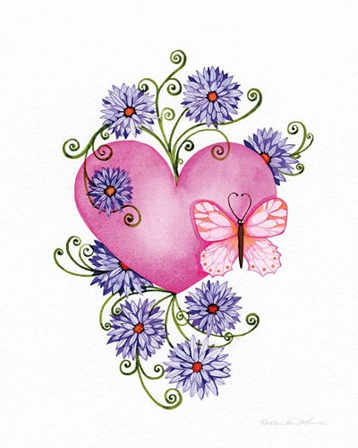 Hearts and Flowers III art print by Kathleen Parr McKenna for $41.25 CAD