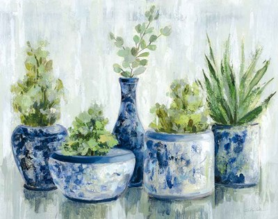 Chinoiserie Plants Bright art print by Silvia Vassileva for $72.50 CAD
