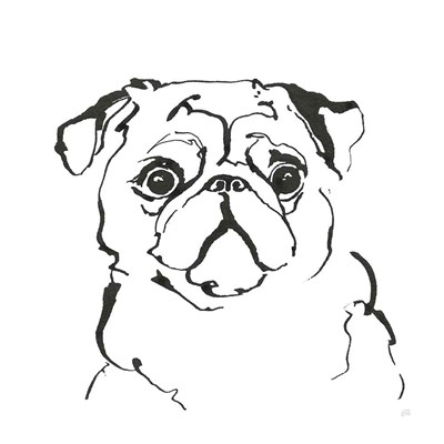 Line Dog Pug I art print by Chris Paschke for $58.75 CAD