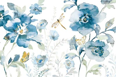 Blues of Summer V art print by Danhui Nai for $107.50 CAD