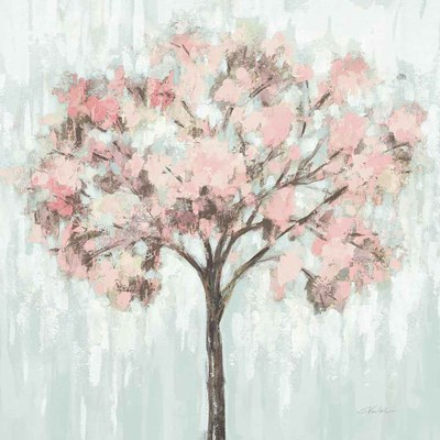 Blooming Tree Blush Crop art print by Silvia Vassileva for $83.75 CAD