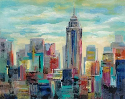 Colorful Day in Manhattan art print by Silvia Vassileva for $72.50 CAD