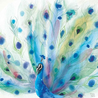 Peacock Glory V art print by Dina June for $67.50 CAD