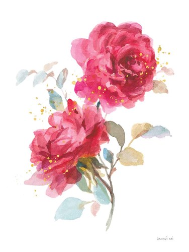 Bold Roses II art print by Danhui Nai for $90.00 CAD
