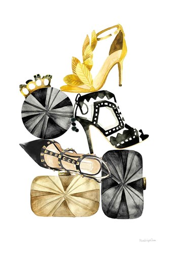 Glitz and Glam II art print by Mercedes Lopez Charro for $46.25 CAD