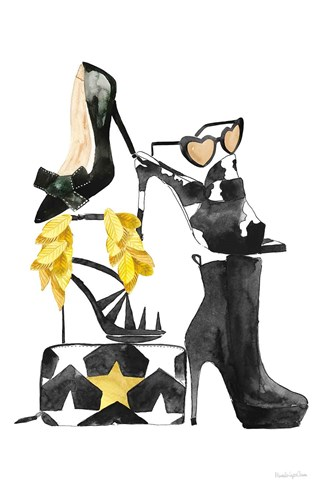Glitz and Glam III art print by Mercedes Lopez Charro for $46.25 CAD