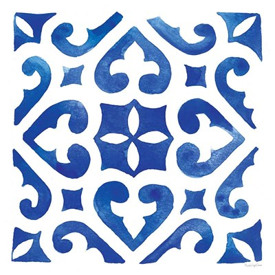 Andalusian Tile I art print by Mercedes Lopez Charro for $83.75 CAD