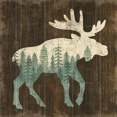 Simple Living Moose Silhouette art print by Michael Mullan for $51.25 CAD