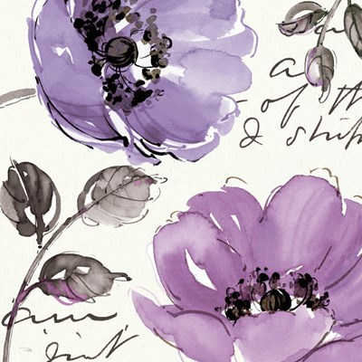 Floral Waltz Plum II art print by Pela Studio for $112.50 CAD