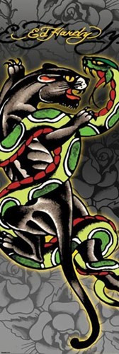 Panther & Snake art print by Ed Hardy for $22.50 CAD