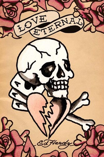 Love Eternal art print by Ed Hardy for $12.50 CAD