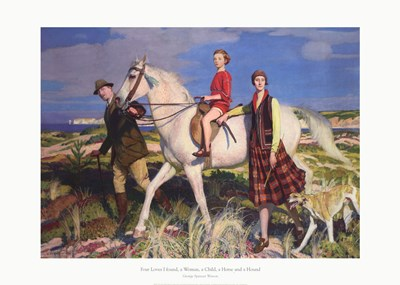 Four Loves I Found, a Woman, a Child, a Horse and a Hound art print by George Spencer Watson for $66.25 CAD