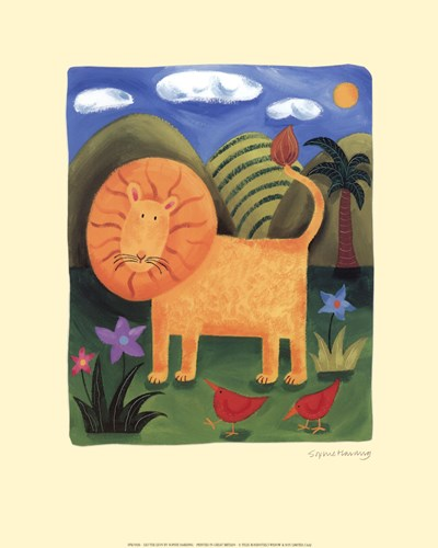 Leo the Lion art print by Sophie Harding for $12.50 CAD