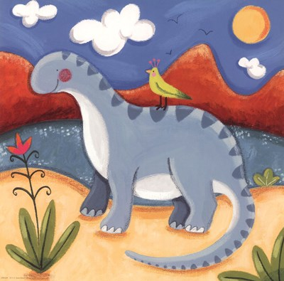 Baby Dippy The Diplodocus art print by Sophie Harding for $12.50 CAD