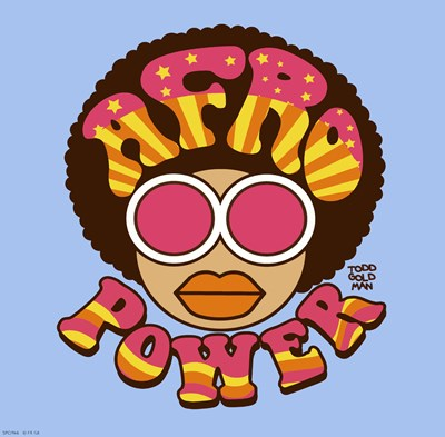 Afro Power art print by Todd Goldman for $16.25 CAD