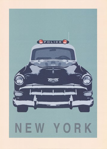 New York - Cop Car art print by Ben James for $60.00 CAD