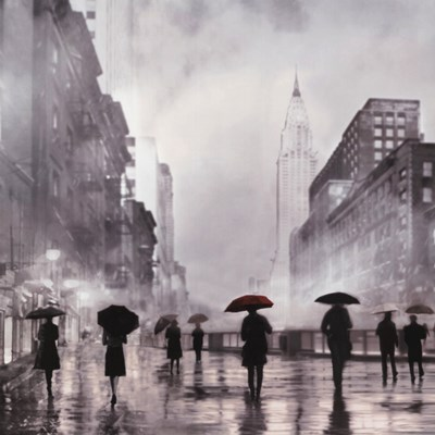 New York Red Umbrella art print by Robert Canady for $31.25 CAD