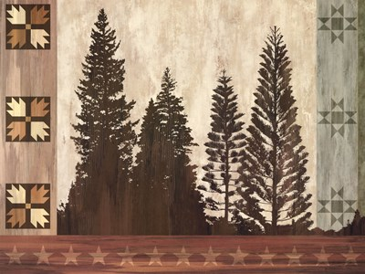 Pine Trees Lodge I art print by Tania Bello for $66.25 CAD