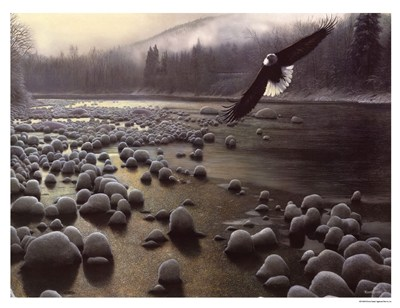 On Eagle Wings art print by Kevin Daniel for $18.75 CAD