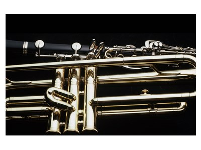 Close - up of a Clarinet and a Trumpet art print by Unknown for $31.25 CAD