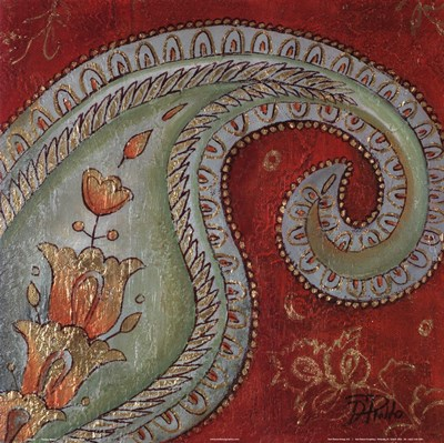 Paisley Wave I art print by Patricia Pinto for $25.00 CAD