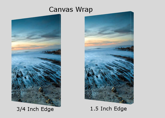 Learn more about our canvas wrap inventory